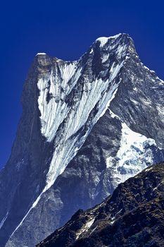 Machapuchare Holy Mountain, Fish Tail, Annapurna Conservation Area, Himalaya, Nepal