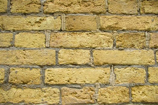 wall background and texture close-up, yellow color