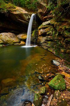 Beautiful Flat Lick Falls near Gray Hawk, Kentucky.