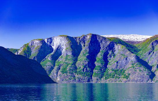 Summer Sognefjord landscape at Norway