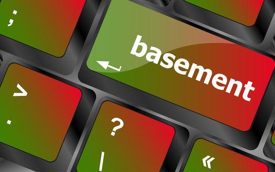basement message on enter key of keyboard