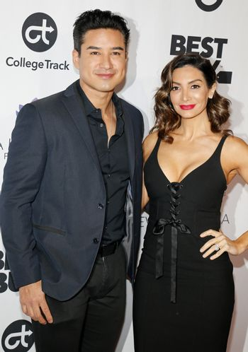 Mario Lopez and Courtney Laine Mazza at the Eva Longoria Foundation Dinner Gala held at the Four Seasons Hotel in Beverly Hills, USA on November 8, 2018.