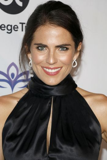 Karla Souza at the Eva Longoria Foundation Dinner Gala held at the Four Seasons Hotel in Beverly Hills, USA on November 8, 2018.