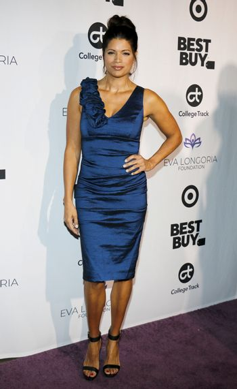 Andrea Navedo at the Eva Longoria Foundation Dinner Gala held at the Four Seasons Hotel in Beverly Hills, USA on November 8, 2018.