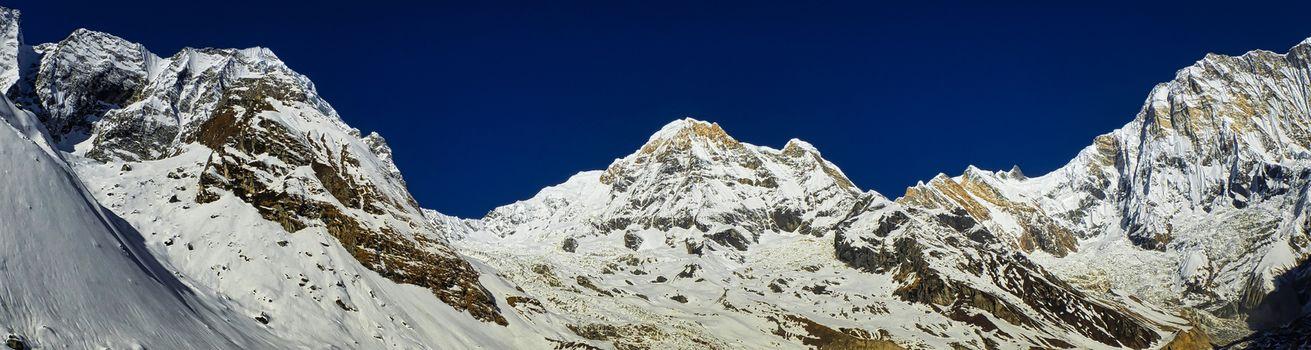 Panoramic View, Annapurna Range, Annapurna Conservation Area, Himalaya, Nepal