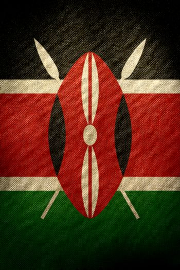The central part of the flag of the state of Kenya