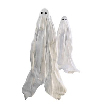 ghosts isolated on white background 3d illustration