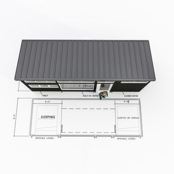 tiny house project isolated on white 3d illustration