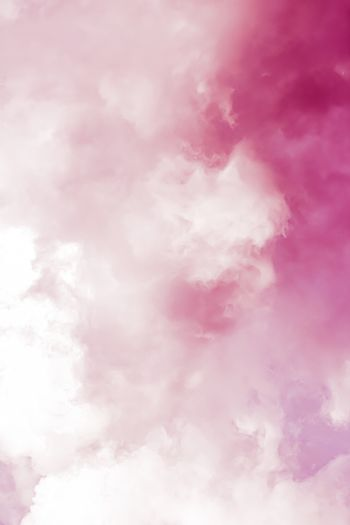 Fantasy and dreamy pink sky, spiritual and nature background