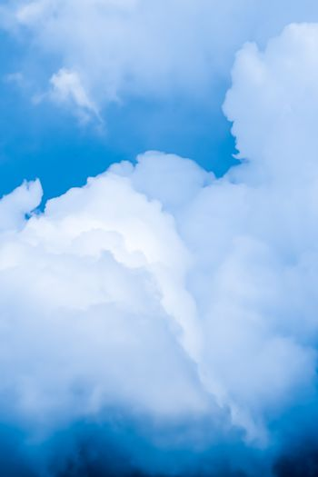 Dreamy blue sky and clouds, spiritual and nature background