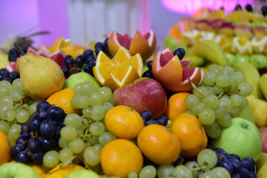 Organic fruits. Healthy eating concept.