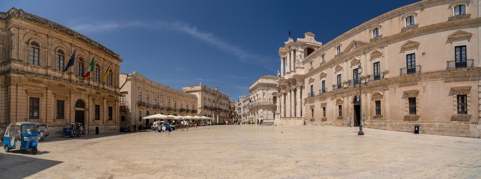 The cathedral square in Syracuse, Italy.