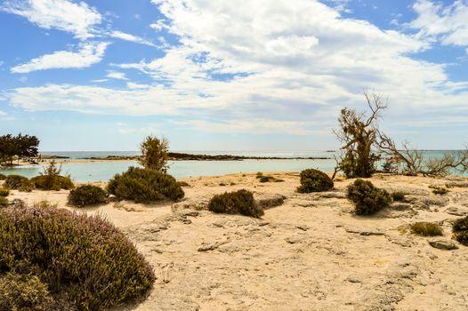 Famous Elafonisi beach