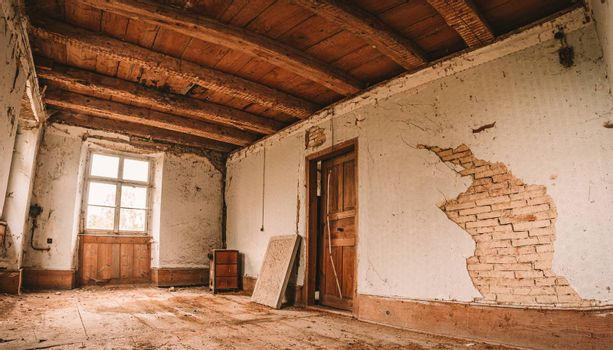 Urban Eploring in an old abandoned manor house, a Lost Place with antique furniture and wonderful architecture