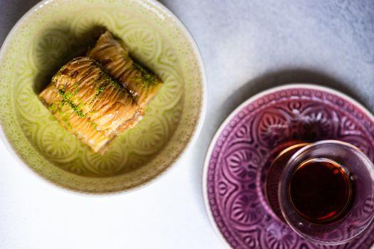 Famous turkish sweet baklava