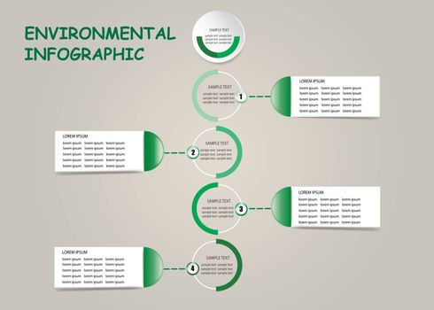 Environmental infographic template vector of four blank labels ready for your use