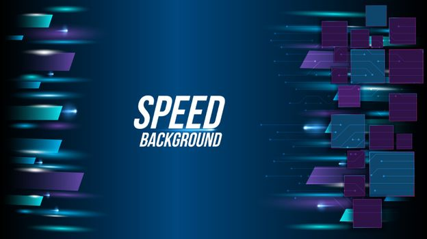 Abstract background technology high speed racing for sports of long exposure light on black background.Science geometric shape modern elegant design.Vector illustration.