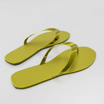 flip flop isolated on white background 3d illustration