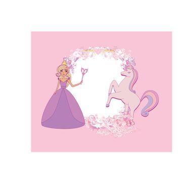 Unicorn and fairy - girlish frame