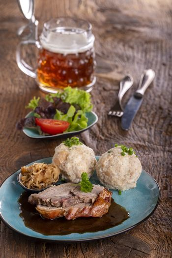 bavarian roast pork with dumplings