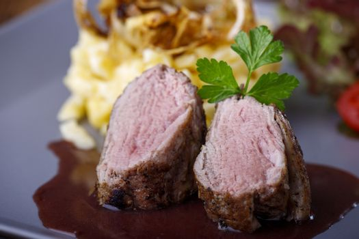 pork filet with swabian pasta