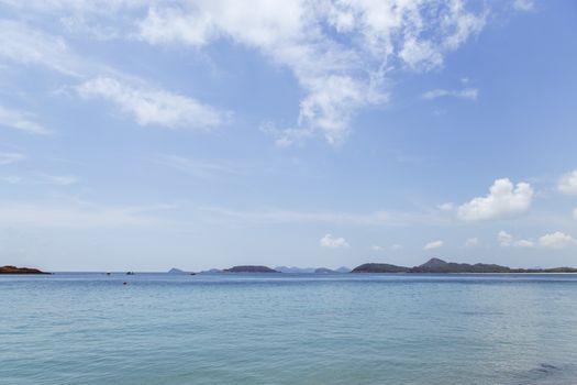 Island on sea with cloud and sky