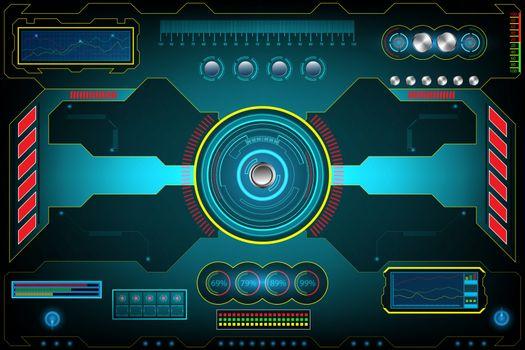 Technology Futuristic Interface screen. element digital design innovation hi-tech AI, UI background concept. vector and