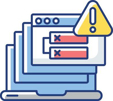 Internal server error RGB color icon