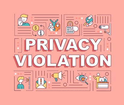 Privacy violation word concepts banner