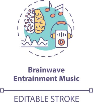 Brainwave entertainment music concept icon