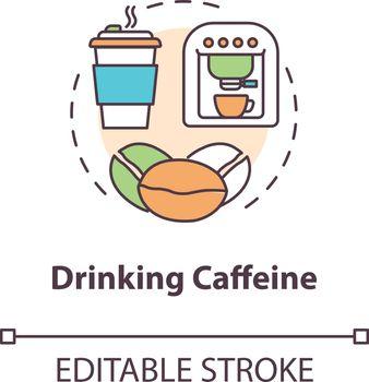 Drinking caffeine concept icon