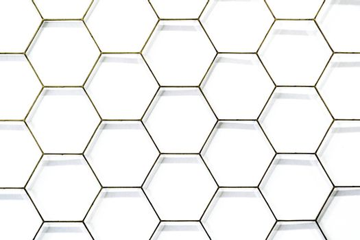 wire mesh material made of a network of wire or thread.