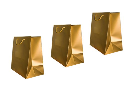 Beautiful and colorful gloden paper bag.