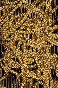 Beautiful glod rope background textuer.