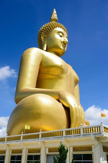 Buddha, the largest in the world.