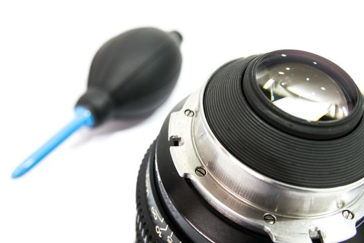 Cleaning lens filter digital camera by alcohol.