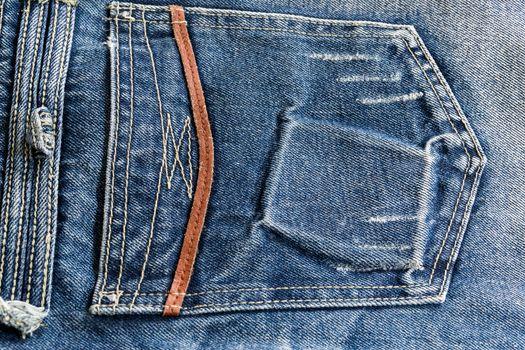 Blue jeans, long legs For men and women.