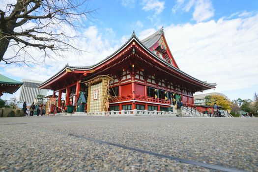 A beautiful Asakusa Temple in a claer day in Japan.