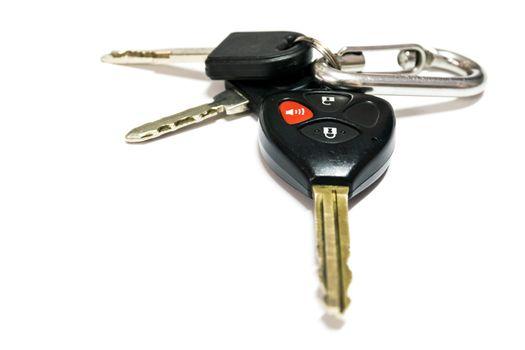 Car keys with remote control.