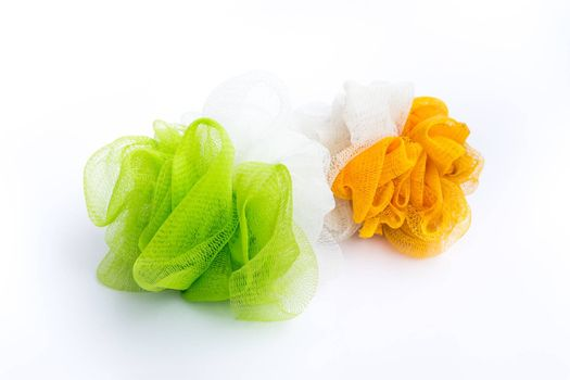 Foam Scrubbing devices in the bathroom.