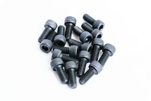 Black machine screws very important for mounting components.