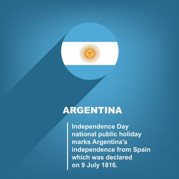 National Holiday in Argentina - Independence Day. Poster for event