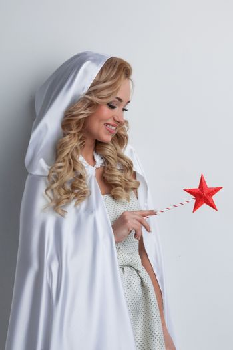 Fairy woman with magic wand