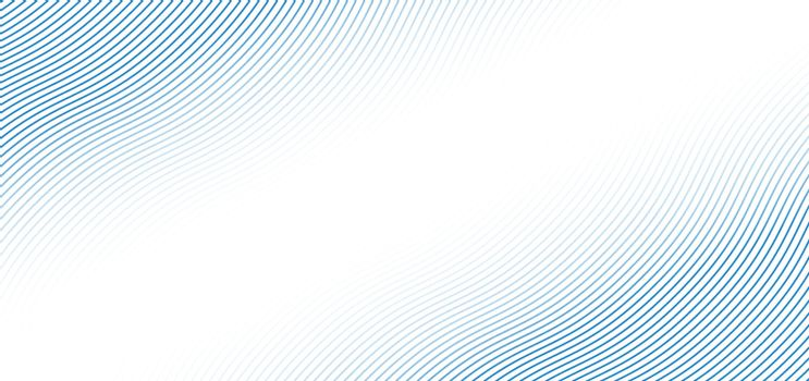 Abstract blue wave lines pattern on white background with space for your text. Banner web blue curved line template design. Vector illustration