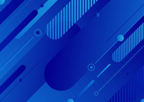 Abstract modern blue color diagonal geometric rounded lines shapes background. You can use for design template for cover brochures, flyers, banners web, headers, book, poster, etc. Vector illustration