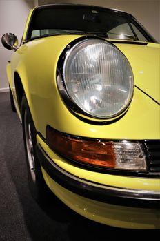 Close up of sports car headlight and indicator
