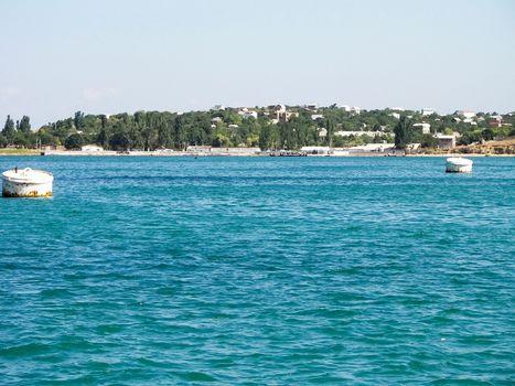 waters of black sea near Sevastopol.