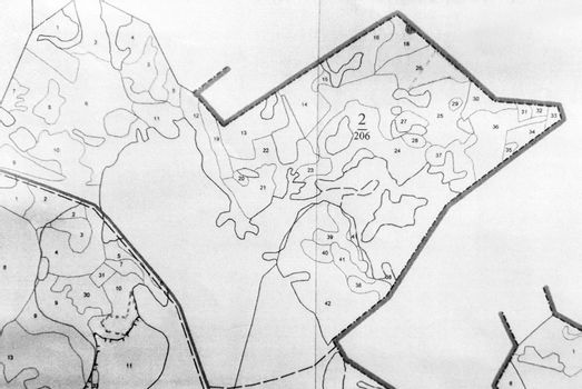 Topographic map of a small land plot