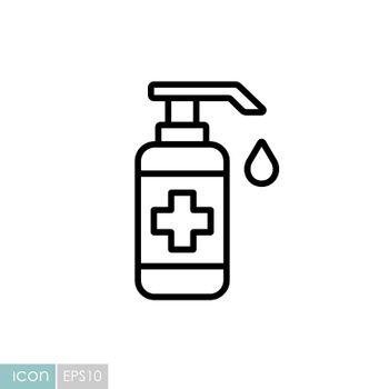 Washing hand with sanitizer liquid soap vector icon. Coronavirus. Graph symbol for medical web site and apps design, logo, app, UI