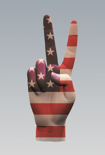 USA Peace Sign. 3D rendering
